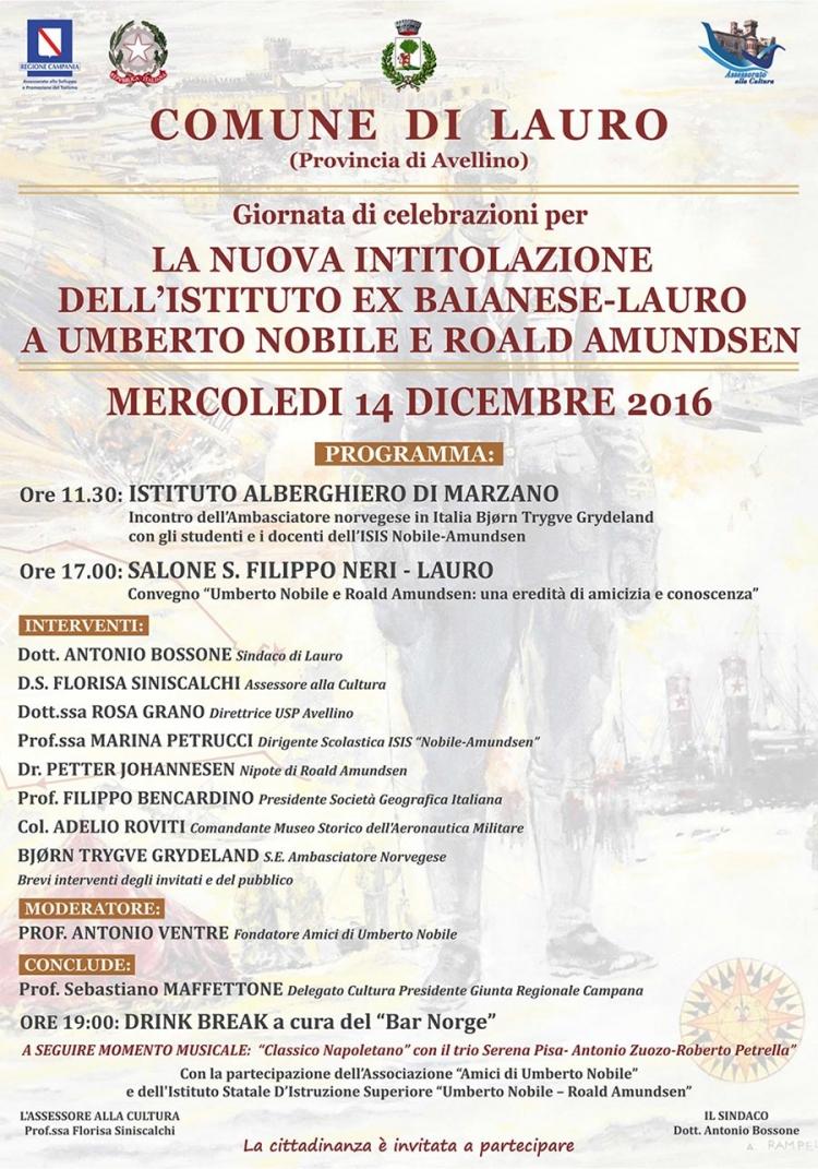 Nuova intitolazione dell'Istituto Ex Baianese-Lauro