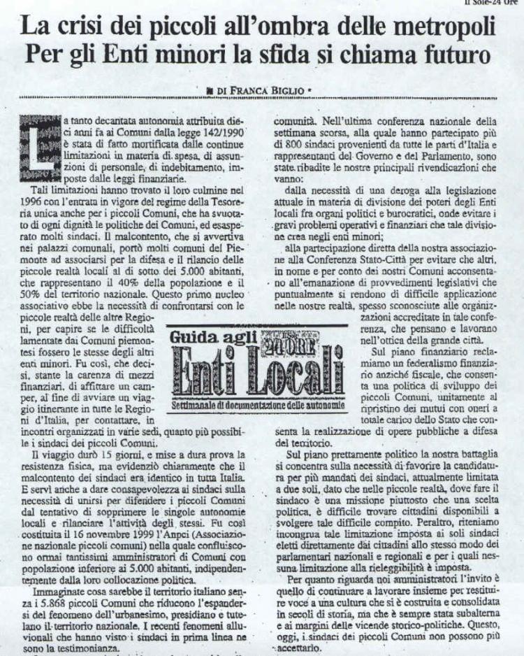 16/11/1999 Costituzione Anpci